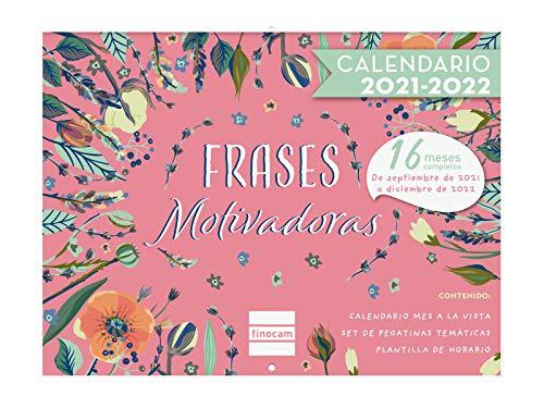 Finocam - Calendario de Pared Imágenes 16 meses 2021 2022 300X225 Mes Vista Frases Motivadoras Español