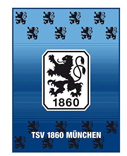 TSV 1860 München Coralfleecedecke, Fleecedecke, Decke Lions in 150 x 200 cm