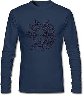 Hefeihe DIY Ziggy Marley Art Logo Men's Long-Sleeve Fashion Casual Cotton T-Shirt