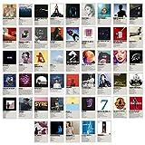 Juego de póster de Polaroid, juego de collage de pared, póster Polaroid, 50 unidades de decoración de pared, decoración de salón o dormitorio
