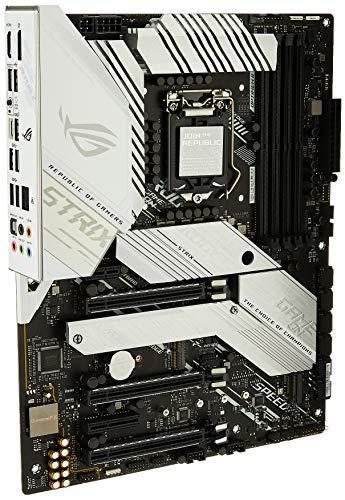 ASUS ROG Strix Z490-A Gaming Z490 LGA 1200 (Intel 10th Gen) ATX White Scheme Gaming Motherboard (12+2 Power Stages, DDR4 4600, Intel 2.5 GB Ethernet, USB 3.2 Gen 2, AURA Sync)