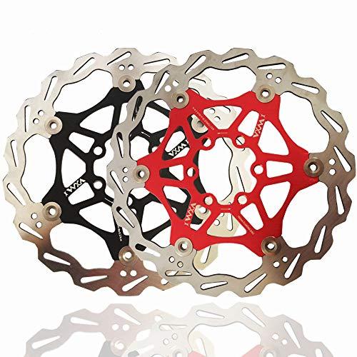 Fahrrad Fahrradbremse Schwimmende Bremsscheibe 6 Schrauben Aluminiumlegierung Die meisten Fahrrad Rennrad Mountainbike BMX MTB Fahrrad Bremsscheibe Für 160mm 180mm Schwimmender MTB-Rotor mit 6 Schraub