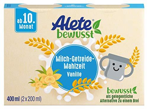 Alete bewusst Milch-Getreide-Mahlzeit Vanille-Geschmack, ab dem 10. Monat, 400 ml