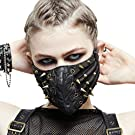 Devil Fashion women Steampunk PU Leather Rivet Mask Motorcycle Winter Face Mask Masquerade Masks