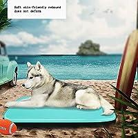 Raxinbang犬のベッド ペット用冷却パッド防水パッド入りペットパッド過熱や脱水を防止するのに役立ちます冷却清潔にしやすく、汚れがつかない(複数色) (Color : Blue, Size : L)
