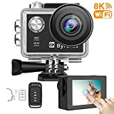 Byroras 8K/15fps Action Cam 4K/60ps Videocamera 20MP Action Camera WiFi 2.0'' Touch Screen...