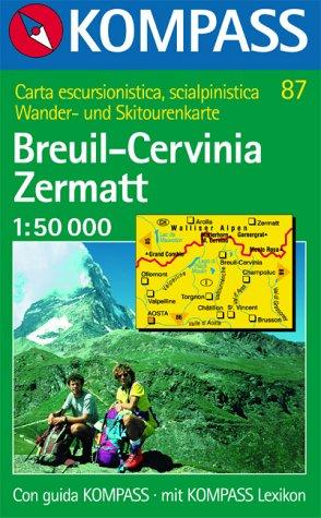 Breuil, Cervina, Zermatt. 1/50 000