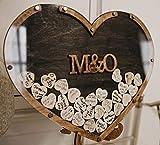 Rustic Wedding Guest Book, Heart Drop Guest Book, Personalized Wedding Guest Book Alternative, Heart...