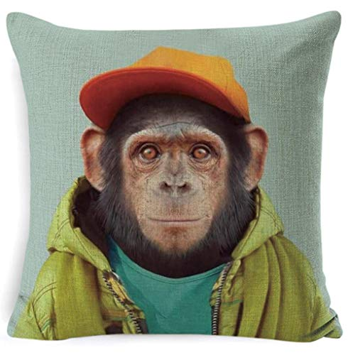 Almohada de sofa Cartoon Animal Cushion Cover Home Decor sofá silla coche...