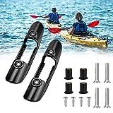'N/A' DURANTEY 2 piezas soporte de clip para remo de kayak, soporte universal para remo de kayak, kayaks, montaje en cubierta, reemplazo con tornillos de fijación y tuercas para kayak marino canoa