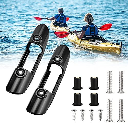 DURANTEY 2 Pezzi Supporto per Pagaia per kayak Clip per Pagaia per Kayak Clip di Sicurezza Clip di Plastica per Kayak Porta Pagaia Kayak con Viti, Universale Accessori per Pagaie da Kayak