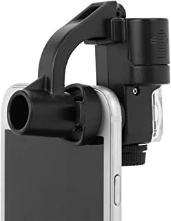 90X Phone Camera Magnifier Microscope Universal Clip Portable Magnifying with 1 Illuminated LED and 1 UV Light for Mobile iPhone Galaxy