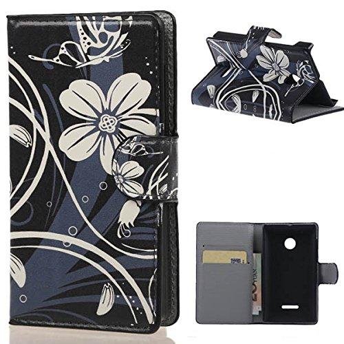 weixin TM PU Leather Cover Case per Nokia Microsoft Lumia 435 Cover Case Protettivo Coprire Pelle Guscio Sacchetto Wallet/Card Slots (W02#)