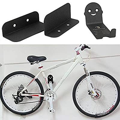 Bike Wall Mount Hanger Bicycle Rack Pedal Hook Wheel Holder Horizontal Indoor Storage Solution Hang Your Mountain Road or Hybrid Cycle in Garage Shed or House Cycling Pedal Tire Storage Stand