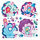 Baker Ross Tür-Bastelsets Meerjungfrau (4 Stück) Personalisierte Namensschilder für Kinder zum Zusammenbauen und Anzeigen