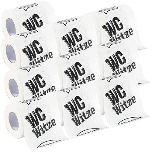 infactory Klopapier: Toilettenpapier Witze, 10 Rollen (Lustiges Klopapier)