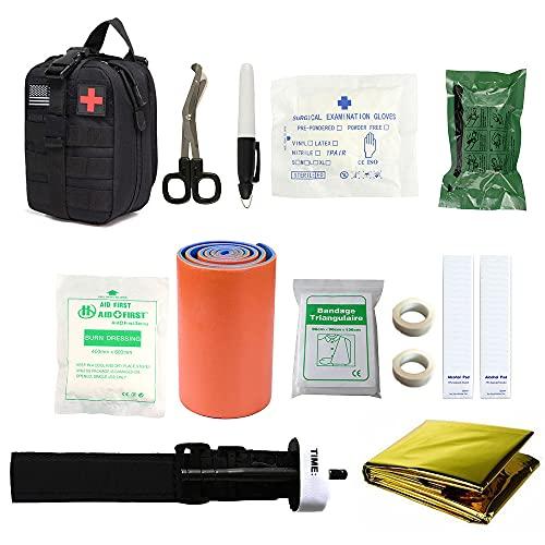 11 en 1 kit de primeros auxilios bolsa portátil al aire libre impermeable kit de primeros auxilios para la familia o viajes tratamiento médico bolsa