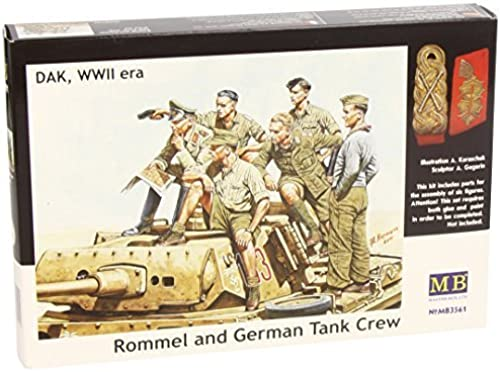 diseñador en linea Masterbox 1 35 Scale Scale Scale  Rommel and German Tank Crew, DAK WWII Era  Assembly Parts by Masterbox  promociones
