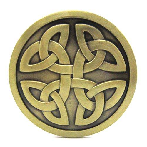 MASOP Celtic Knot Round Metal Cowboy Belt Buckle Accessories for Men