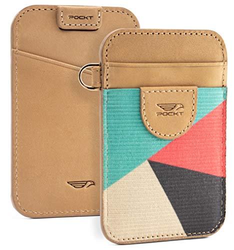 POCKT Slim Card Holder Wallet For Men and Women - Minimalist Front Pocket Wallet Elastic Credit Card Holder Genuine Leather RFID Blocking Card Case Wallets | Cross