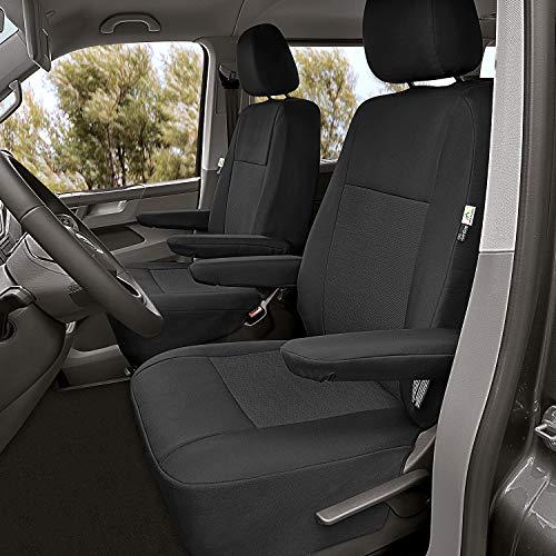Sitzbezüge passgenau Schonbezüge geeignet für VW T5 Multivan Bj. 2003-2015 Erste Reihe 2-Sitzer