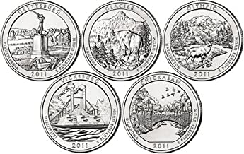 2011 P National Parks Set (5 Coins) Uncirculated