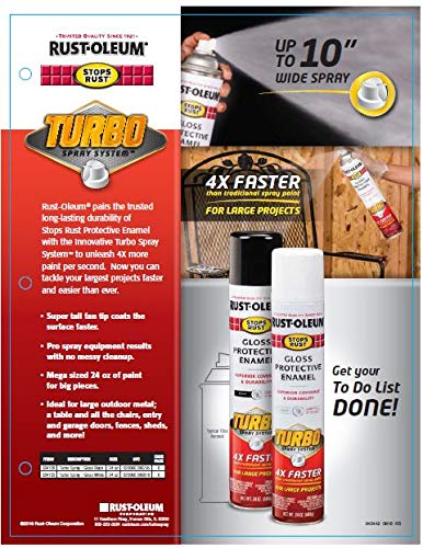 Rust-Oleum 334128 Stops Rust Turbo Spray Paint, 1 Pack, Gloss Black