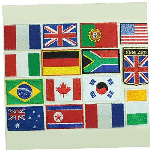 Oulensy Parche Bandera País Rayas Bordado Francia Militar De La Bandera Parches Ejército Apliques Raya