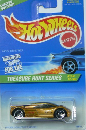 1997 Hot Wheels Treasure Hunt Avus Quattro Gold #588