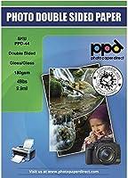 PPDインクジェット光沢/光沢両面写真用紙a4( 21x 11.69CM ) 49lbs。180GSM 9.9Mil X 50シート( ppd044–50)