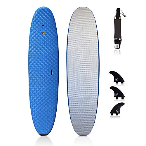 Premium Surfboard for Beginners – Wax-Free Soft-Top Foam Surfboard –...