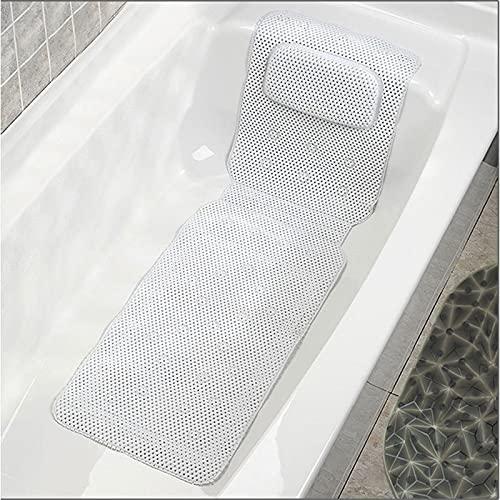 ZDLZDG 전신 목욕 베개 할로우 밖으로 PVC 거품 비 슬립 스파 욕조 베개 여분의 두꺼운 머리 베개 지원 목 어깨 뒤로