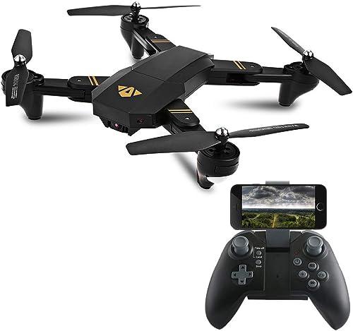 Traioy Mini-Drone aérien Pliable à Haute Altitude, Avion télécomhommedé Transmission d'images en Temps réel, Transmission d'images en Temps réel 2 Millions Pixels HD WiFi, destiné aux débutants