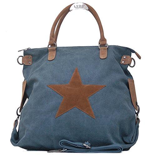 Vain Secrets Sternen Shopper Damen Handtasche mit Schulterriemen (Navi)