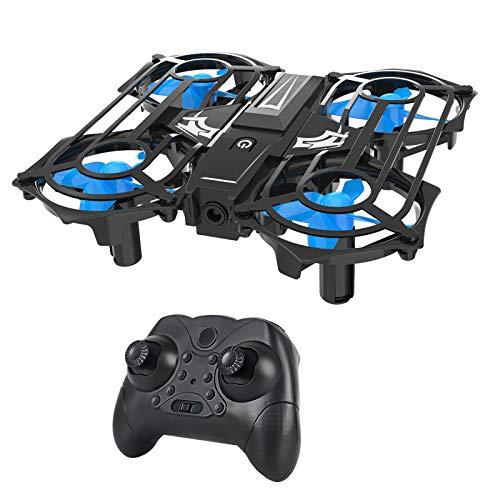 Fcil de llevar Drone, drones de control remoto de cuadrcula de cuatro ejes con la cmara pequeos drones de palma de aviones porttiles para principiantes con 4 luces LED 360  Flip en el aire adecu