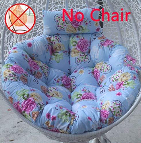 Hangkussen voor stoelen, hangmat, dik, comfortabel, rond, voor buiten, terras, strand, vloerkussen 105x105cm(41x41inch) L