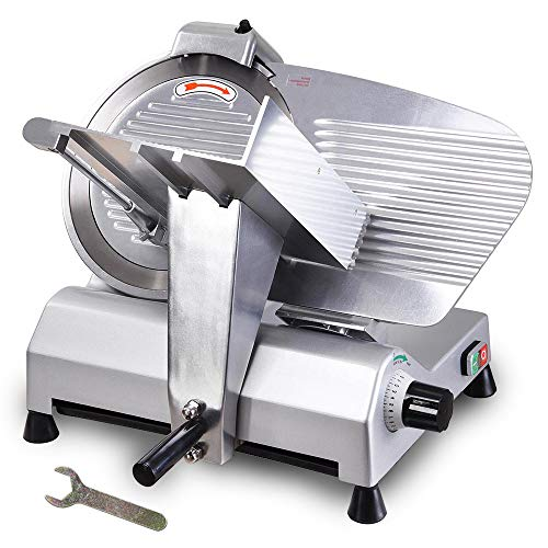 WeChef Commercial Electric Meat Slicer 12 inch Stainless Steel Blade Deli Cheese Food Cutter Restaurant Home