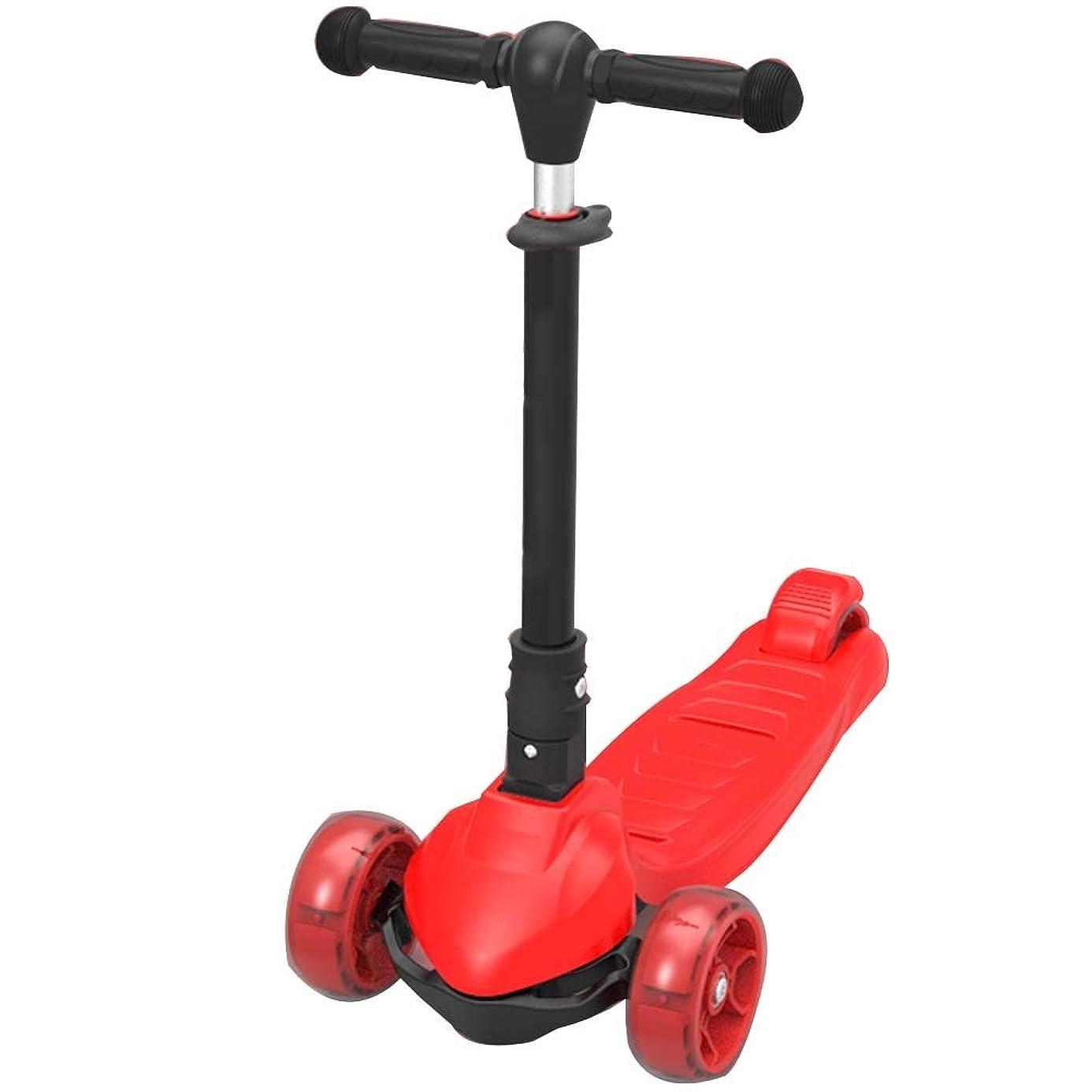 わずかにプーノ別れるYUMEIGE キックボード キックスクーター 子供用3輪キックボード 4つの高さ調整可能なフラッシュホイール付きキックスクーターキックスクーター耐荷重50Kg 2?15歳のお子様に最適ギフト(黒、赤、青、ピンク) 利用可能