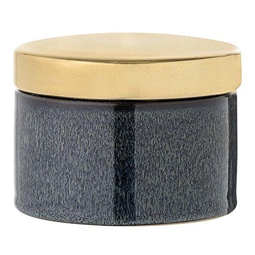 Bloomingville Behälter mit Deckel, blau, Keramik