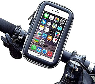 Water Resistant Touch Screen Bicycle Bike Phone Mount Holder Handlebar Case Pouch for iPhone Xs Max / 8 Plus/Galaxy S9 Plus/Note 9 / LG Stylo 4 / V40 ThinQ/Google Pixel 3 XL/HTC U12 Plus