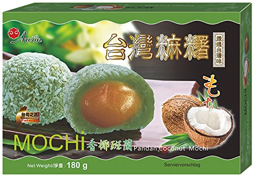 Awon Mochi, Sabor Pandan Y Coco 180 g