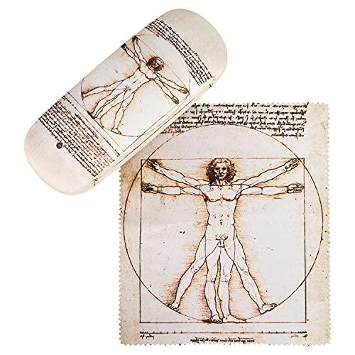 von Lilienfeld Estuche Gafas El Hombre de Vitruvio de Leonardo da Vinci Funda Ligeramente Estable Colorido Paño de limpieza