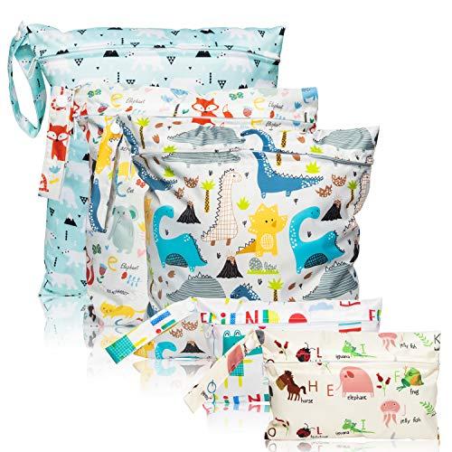 5 Pcs Waterproof Reusable Wet Bag Diaper Baby Cloth Diaper