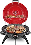 Electric BBQ Grill Techwood 15-Serving Indoor/Outdoor Electric Grill for Indoor & Outdoor Use,...