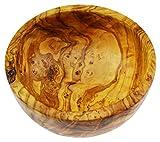 D.O.M. Olive Wood Madera de Olivo Redondo Cuenco para Ensalada/Frutas, Grano/Natural