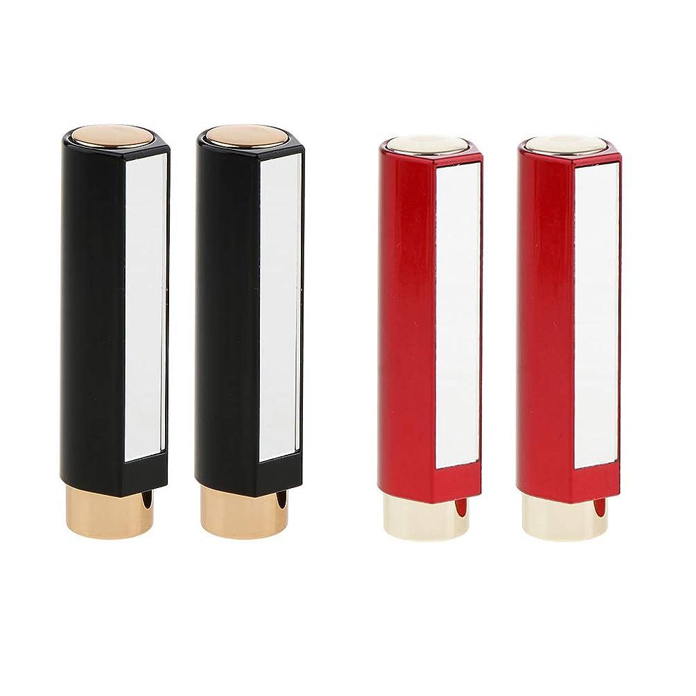 再現する恥深さB Baosity 4本 口紅チューブ 12.1MM リップクリーム メイクアップ 化粧品DIY