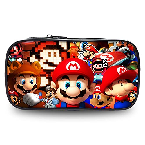 Mario Stationery Box Super Mario Caja de Papelería Super Mario Caja de Papelería Super Mario Odyssey Escuela Primaria Dibujos Animados Juego Estuche Lápiz