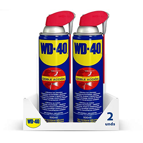 Wd 40 - Wd-40 - Lubricante Wd40 Doble Acción 500Ml - Pack 2 Unidades Wd-40 - Wd 40