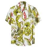 Fenverk Hawaiihemd Herren Kurzarm Front-Tasche Hawaii-Print Magnum Tom Selleck Verschiedene...