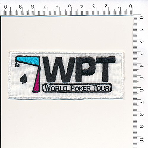 PATCH,TOPPA RICAMATA TERMOADESIVA W.T.P. WORLD POKER TOUR